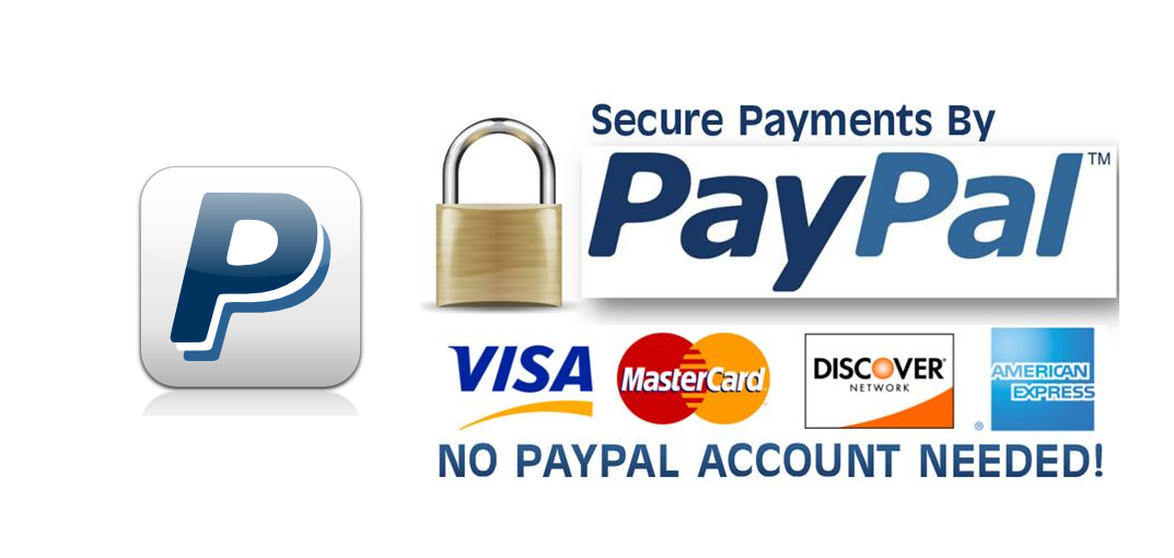 PayPal accepts credit cards - no PayPal account needed!