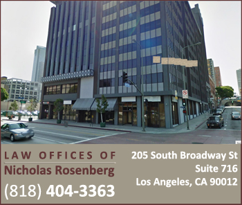 The Law Offices ofNicholas Rosenberg | Nicholas Rosenberg, Esq. | Call 818-404-3363
