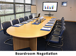 We Excel in Boardroom Negotiation