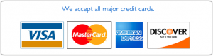 We accept cash, checks, all major credit cards