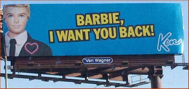 Barbie, I Want You Back Billboard