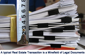 Stack of real estate documents