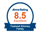 AVVO Badge - Featured Family Attorney - Excellent Rating