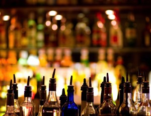 Image of liquor bottles