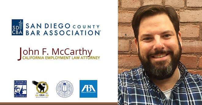 John F. McCarthy San Diego Employment Attorney
