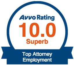 Avvo Top Attorney Employment - Superb - Rating 10