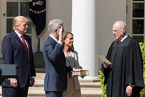 Justice Gorsuch was appointed by President Trump