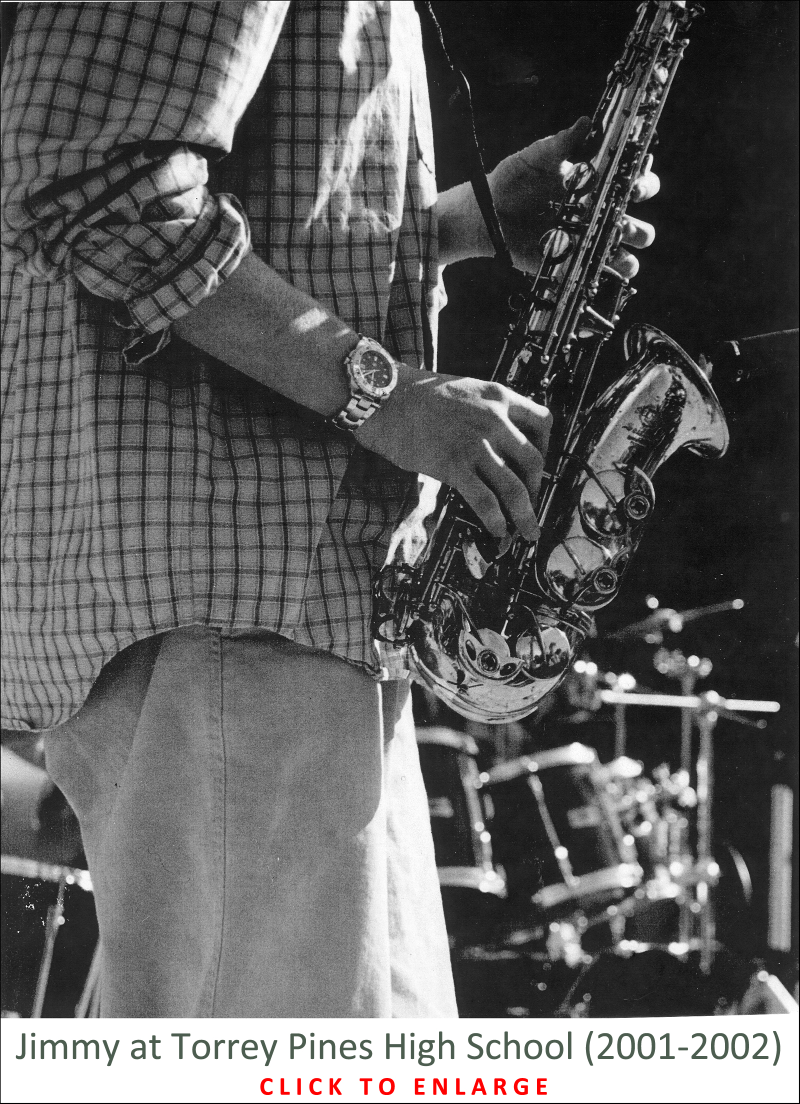 The Sax Players - Jimmy playing Sax