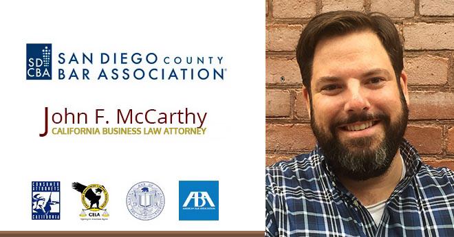 John F. McCarthy San Diego Business Attorney